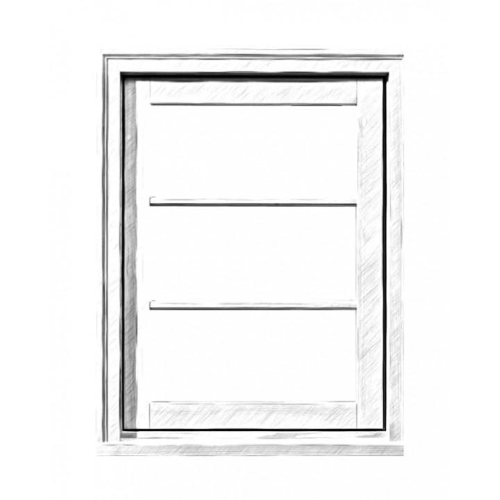 Вікно глухе 88 серія, дуб, 4-16-4-16-4Е (al)
